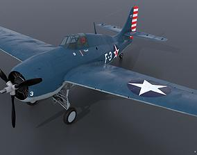 3D GRUMMAN F4F-3 WILDCAT F3 -Butch-