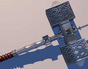 3D model hammer melee