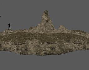 desert terrain 3D asset
