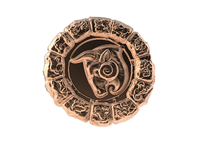 3D print model Medal Astro Taurus