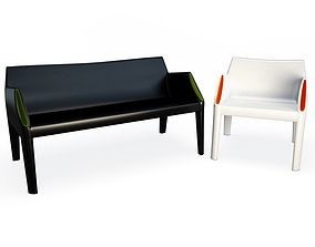 Plastic Sofa And Chair Magic Hole 3D