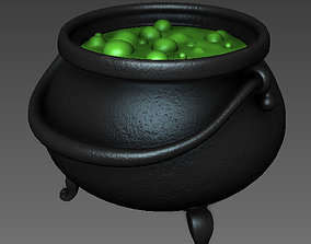 Witch Cauldron cartoon 3D model