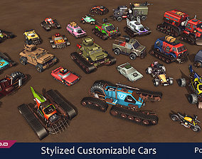 Stylized Customizable Cars post apo v6 3D model