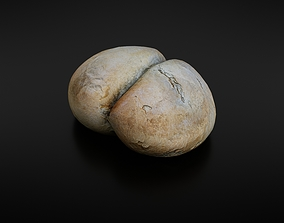 3D asset low-poly Bread roll