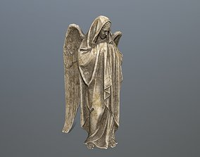 3D asset VR / AR ready Angel Statue 1