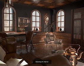 Steampunk interior game-ready 3D