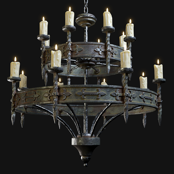 Medieval Candle Chandelier