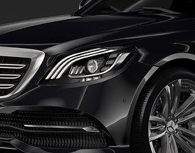 3D model Mercedes Benz S 400 d Lang 4MATIC V222 2018