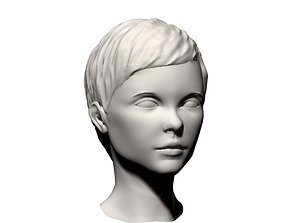 3D model Young Girl head 001