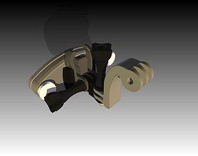 Gopro backpack mount 3D print model