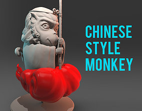 Chinese style monkey to 3D print 3D print model