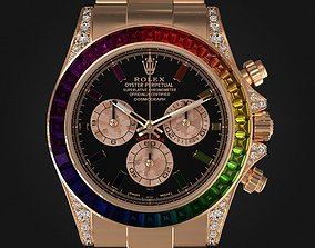 Rolex Daytona Rainbow Watch 3D model