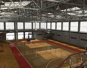 School gym 3D model low-poly