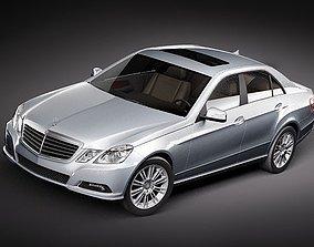 Mercedes E-class 2010 sedan midpoly 3D Model