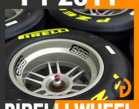 F1 Pirelli Dri Slick Tire and Wheel 3D