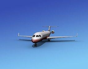 3D Bombardier CRJ700 Corporate 2