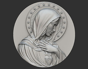 Virgin Mary Medallion no 2 3D print model