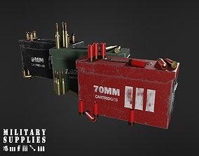 Military Supplies Pack - Cartridges 3D asset