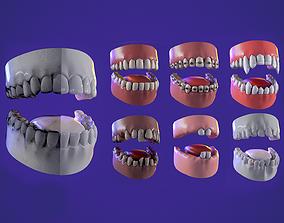 7 Teeth kit game ready pbr model VR / AR ready