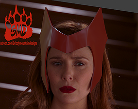 3D printable model WandaVision Scarlett witch headband 2