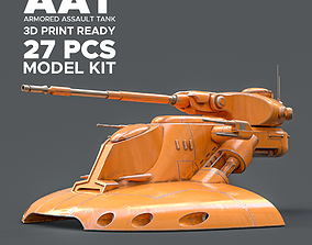 Star Wars AAT Battle Tank Print Ready Model