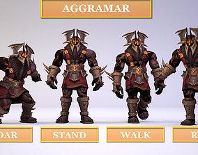 3D asset Aggramar