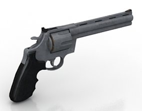 3D Colt anaconda revolver