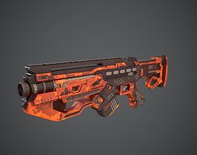 3D asset Space gun sci fi concept weapon