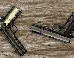 Colt 1911 Low Poly 3D Model realtime