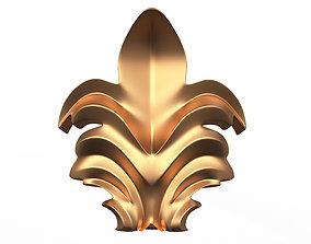 3D model Leave Ornament Plaster Molding Decoration CNC