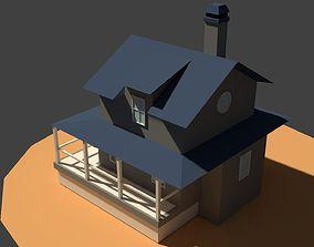 Low Poly Farm House 3D model low-poly