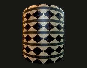Authentic Replica Medieval Border Cermaic Floor 3D model 1