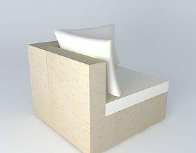 Angle sofa IBIZA beige houses the world 3D