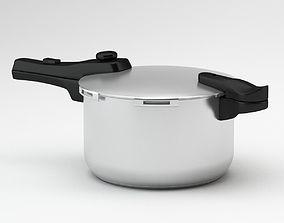 Black And Grey Pressure Cooker 3D