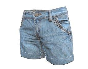 3D model Realistic Jeans Shorts