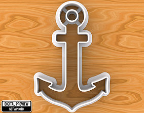 3D printable model Anchor Cookie Cutter