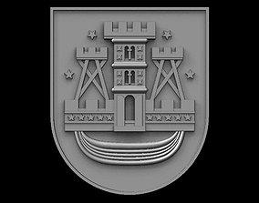 Coat of arms of Klaipeda 3D print model