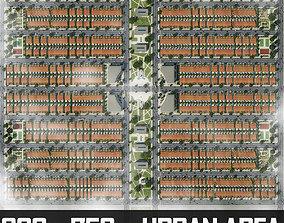 Neighborhood Houses 05 3D asset