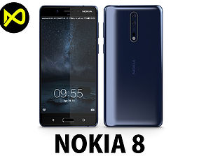 3D Nokia 8 Tempered Blue
