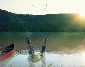 3D model Lake Sunset