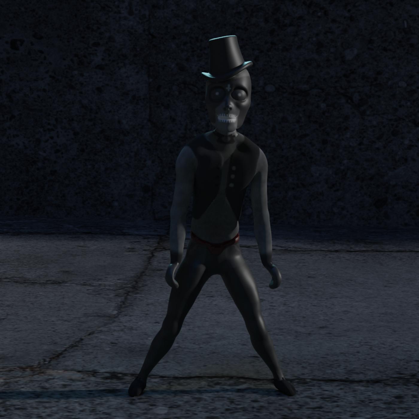 Dead hat man