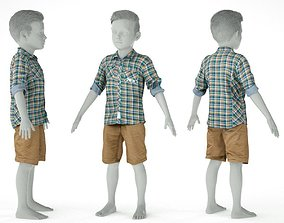 Kid Outfit 7 3D asset