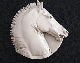 Horse head relief pendant 3D print model