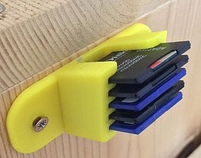 3D printable model Shelf For SD Memory Card