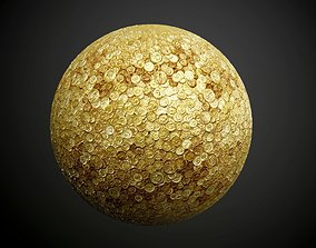 3D Metal Coins Money Treasure Seamless PBR Texture