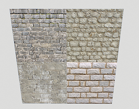 Stone wall textures pack 2 3D model PBR
