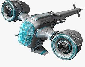 light fighter blue 3D model