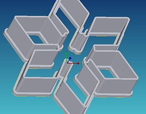 3D printable model Snowflake cookie cutter 4