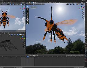 3D model killer Bee Cute -Mandarinia Vespa - Giant Asian