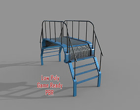 3D asset Metal Stairs and Platform